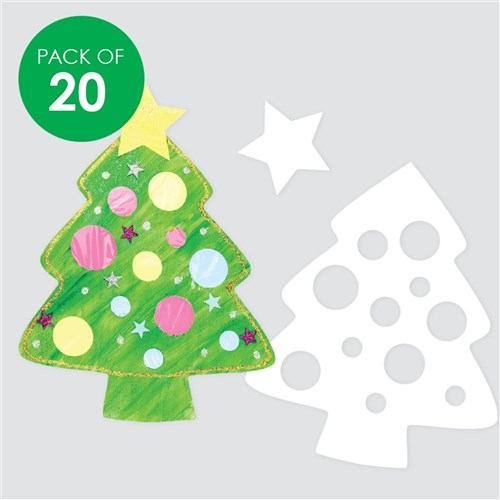 Christmas Tree Cut Out.Cardboard Christmas Tree Cutouts White