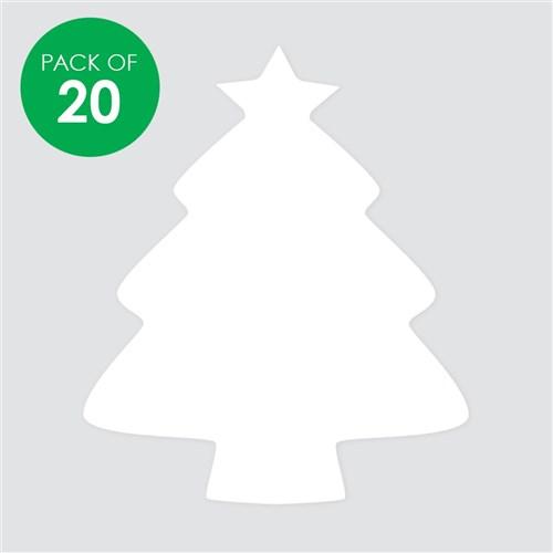Cardboard Christmas Tree.Cardboard Christmas Trees White