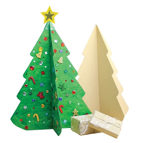 Large 3d Wooden Christmas Tree