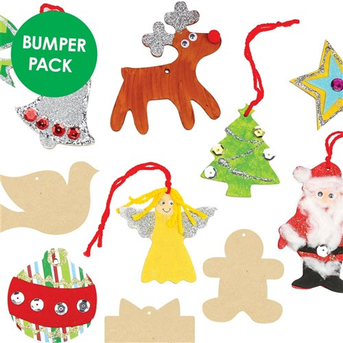 Christmas Shapes.Wooden Christmas Shapes Bumper Pack