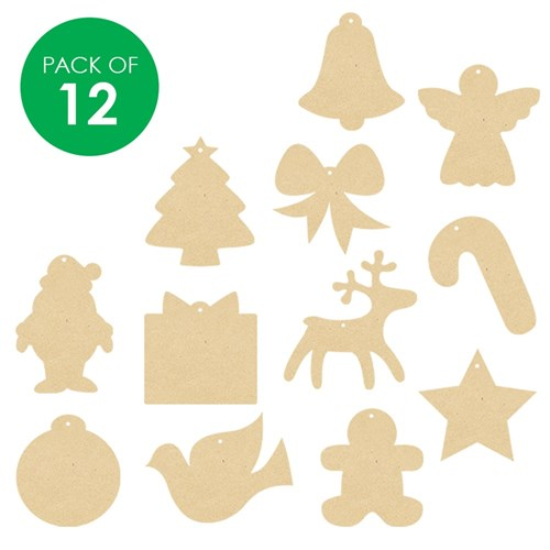 Christmas Shapes.Wooden Christmas Shapes Assorted
