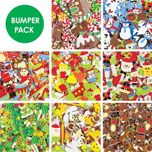 Christmas Stickers.Foam Christmas Stickers Bumper Pack