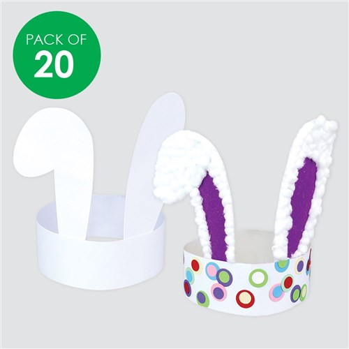 picture about Bunny Ears Printable identified as Cardboard Bunny Ears - White