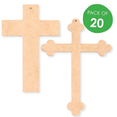 Wooden Crosses Pack Of 20