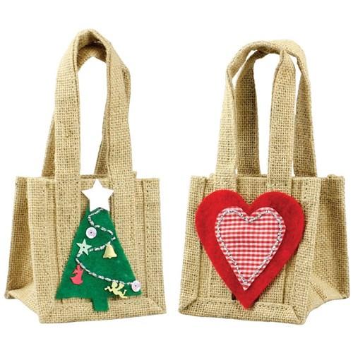 Christmas Jute Bag Christmas Cleverpatch Art Craft Supplies