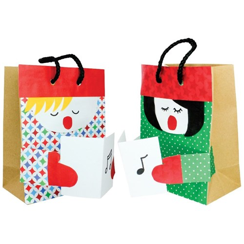 Christmas Paper Bag Carollers Christmas Cleverpatch Art Craft Supplies