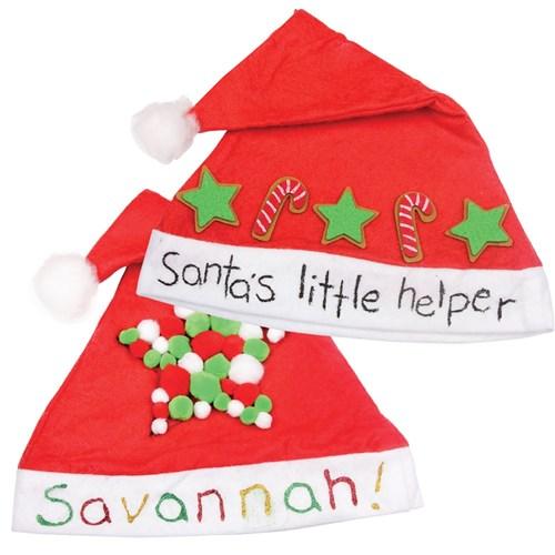 Decorated Santa Hats