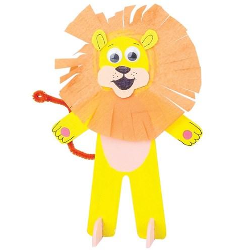 3D Wooden Lion