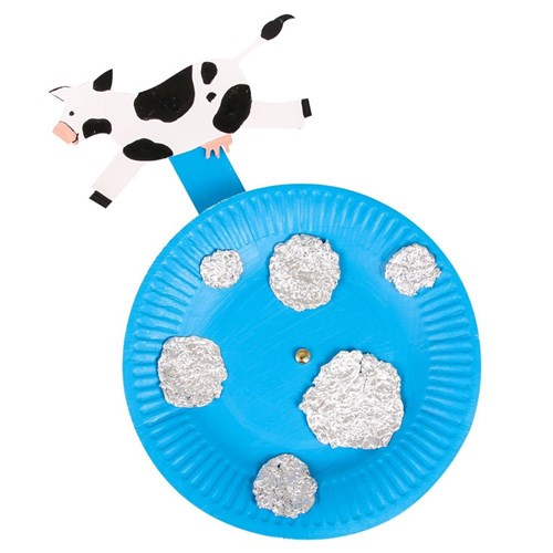 Paper Plate Cow Craft | 500x500