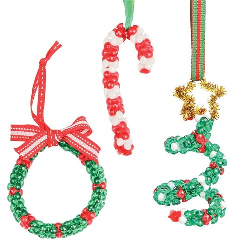 Christmas Jewelry.Christmas Tri Bead Ornaments