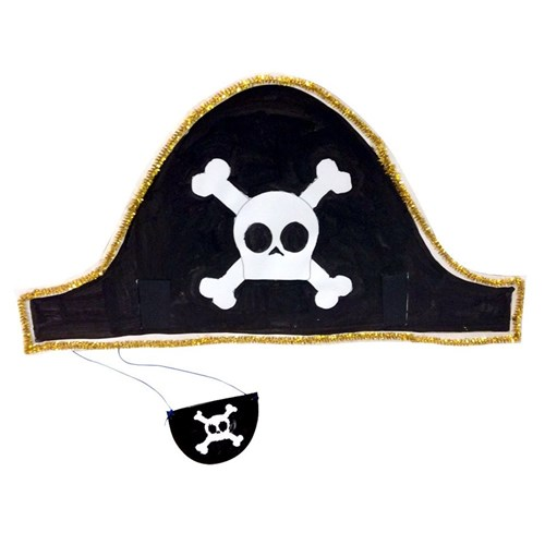 540da3bbc Pirate Hat and Eye Patch | Paper & Card | CleverPatch - Art & Craft Supplies